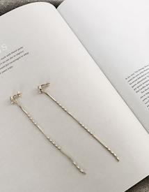 Screw chain earring