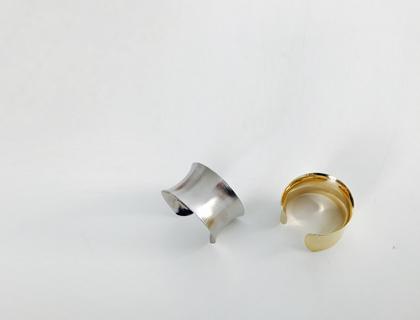 Cave metal bangle