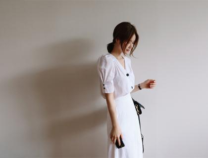 Aura puff blouse