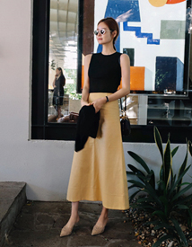 A-line long skirt
