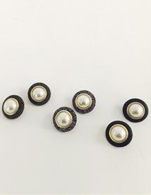 jinju-button earring