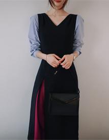 Glad combi dress
