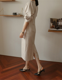 Balsamic wool dress
