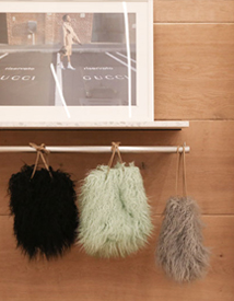 Fake fur bag