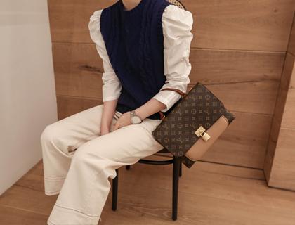 Cable knit vest