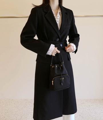 Belt long coat