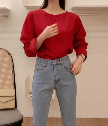 Halo shirring blouse
