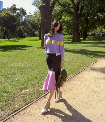 Collabo unbal skirt
