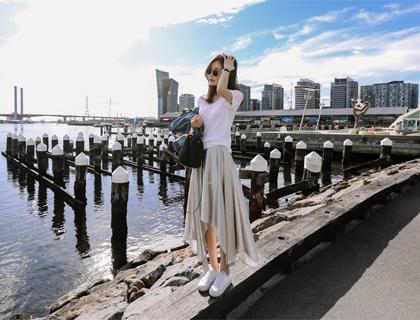 Glow unbal skirt
