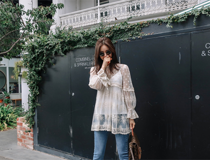 Star lace blouse
