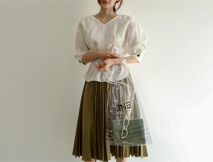 String linen blouse