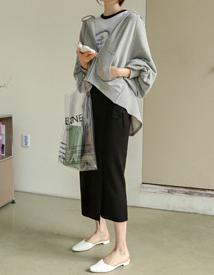 Ribbon-wrap knit skirt