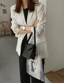 Pin-stripe linen jacket
