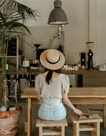 Jijimi check blouse