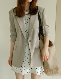 Push linen jacket