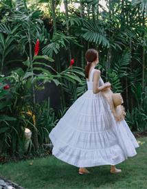 Ameli punching lace dress