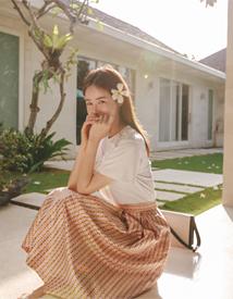 Summer jacquard skirt