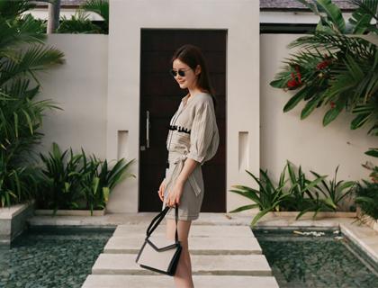 Tassel stripe blouse