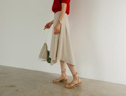 Sand linen skirt