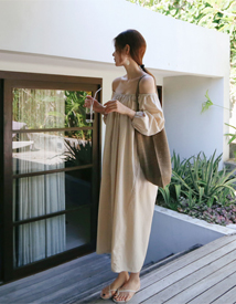 Off banding dress