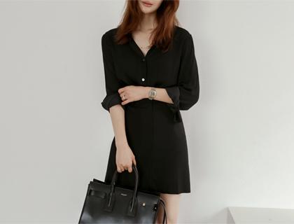 Side-button mini skirt