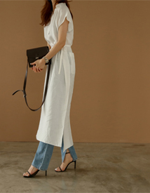 Time linen dress