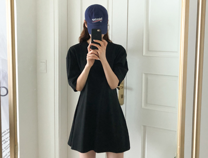 Volume cotton dress