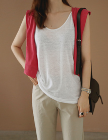 Marina linen sleeveless