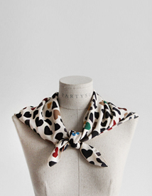 Colorful heart scarf