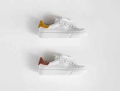 Suede combi sneakers ♩