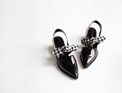 16210 Ribbon sling back heel ♩