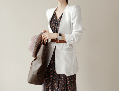 Metal-hook linen jacket
