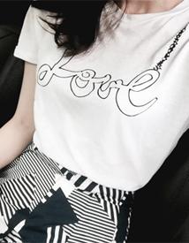 Love print tee