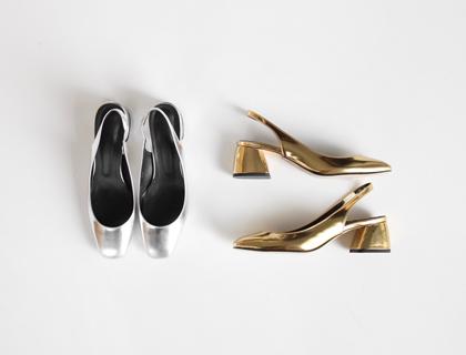 6148 metal sling back heel ♩