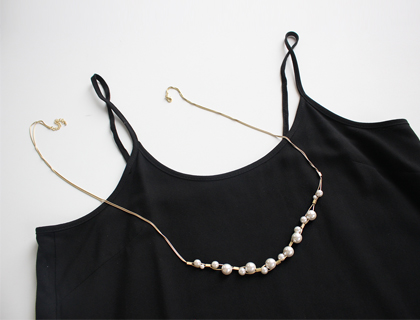 Dripping jinju necklace