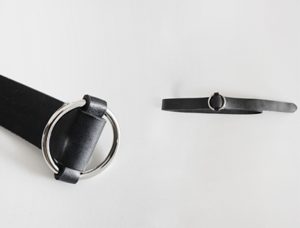 Oring leather-buckle belt