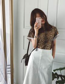 Leopard tee
