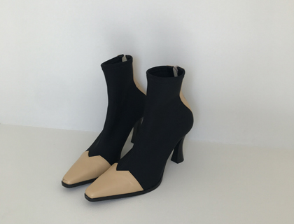 Span ankle boots(beige)♩
