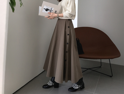 Double button skirt
