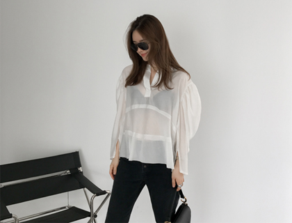 Monk puff blouse