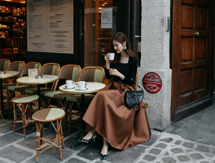 Dinner sateen skirt