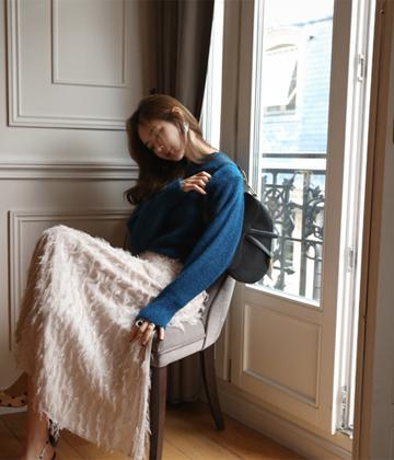 Pastel mohair knit
