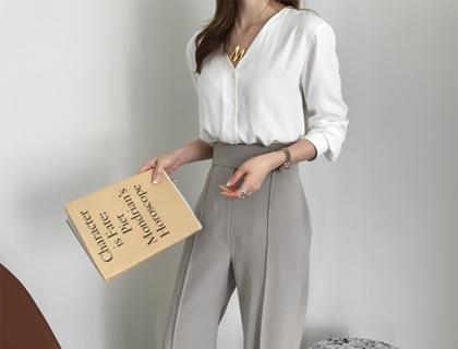 Biel tencel blouse