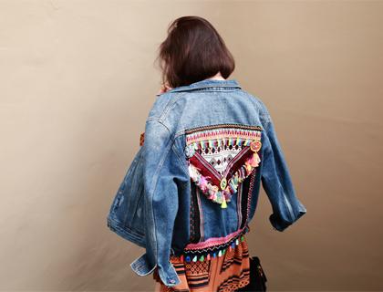 Oriental denim jacket