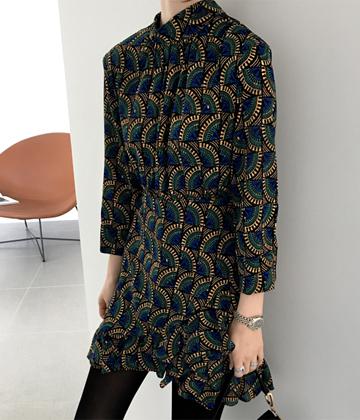 Rebecca print dress