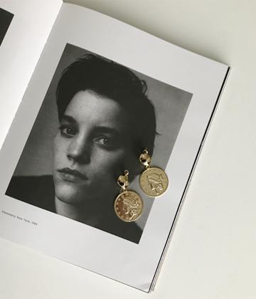 Greece coin earring