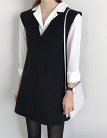 Wool-v dress