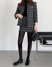 With check skirt