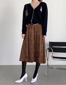 Current pleats skirt
