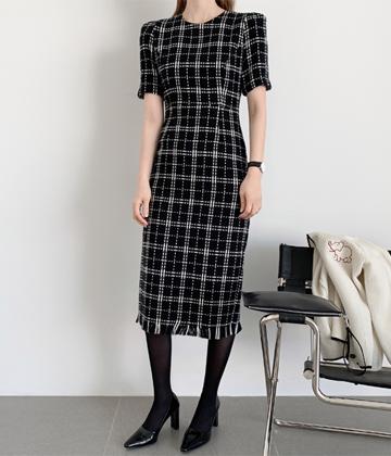Flat check dress